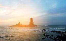 Sonnenuntergang im Meer stockfotografie