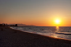 Sonnenuntergang im Mittelmeer Stockfoto