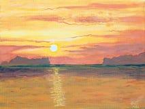 Sonnenuntergang im Ozean Lizenzfreie Stockbilder