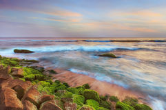 Sonnenuntergang im Ozean Lizenzfreies Stockfoto