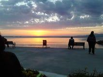 Sonnenuntergang im Paradies lizenzfreies stockbild