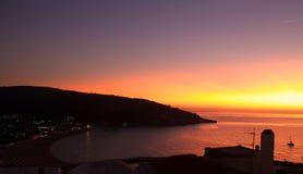 Sonnenuntergang im peschici, Italien Stockbild
