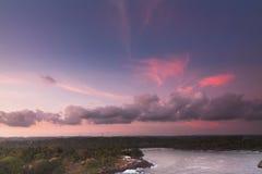 Sonnenuntergang im Punkt Dondra Lizenzfreies Stockbild
