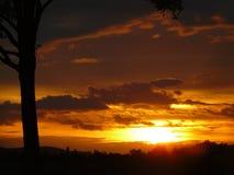 Sonnenuntergang im slowakischen Backland Stockfotos