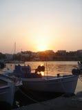 Sonnenuntergang im Souvala Kanal Lizenzfreies Stockbild