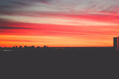 Sonnenuntergang im St Petersburg Lizenzfreies Stockbild