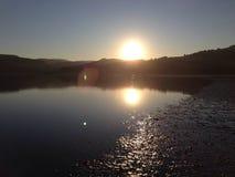 Sonnenuntergang im Winter Stockbild