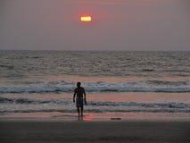 Sonnenuntergang in Indien Lizenzfreies Stockfoto