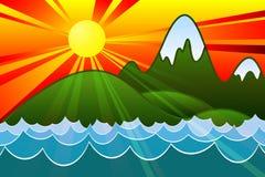 Sonnenuntergang-Insel Lizenzfreie Stockbilder