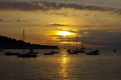 Sonnenuntergang Instow Devon Anglia Stockfoto