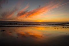 Sonnenuntergang in Island stockfoto