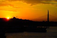 Sonnenuntergang in Istanbul Lizenzfreie Stockfotos