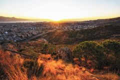 Sonnenuntergang in Izmir Lizenzfreies Stockbild