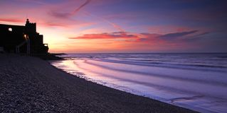 Sonnenuntergang an Jacobs Leiter Lizenzfreie Stockbilder