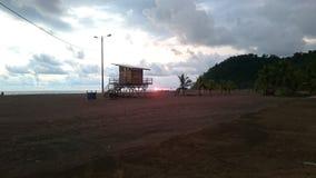 Sonnenuntergang Jako Costa Rica lizenzfreie stockbilder