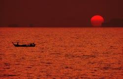Sonnenuntergang in japanischem style-3 Lizenzfreie Stockfotos