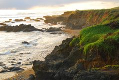 Sonnenuntergang-Küste Stockbilder