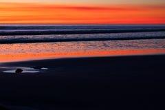 Sonnenuntergang am Kabel-Strand, Broome, West-Australien, Australien lizenzfreie stockbilder
