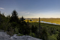 Sonnenuntergang - kahler Berg - Adirondack-Berge - New York Stockfotos