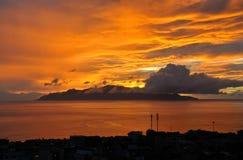 Sonnenuntergang in Kap-Verde Stockbilder