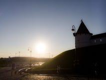 Sonnenuntergang in Kazan Stockfoto
