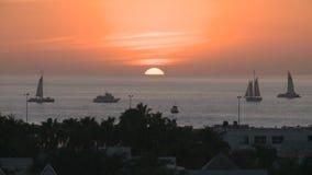 Sonnenuntergang in Key West stock video