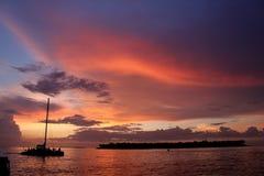 Sonnenuntergang in Key West Stockfoto