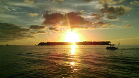 Sonnenuntergang in Key West Stockfotografie