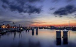 Sonnenuntergang in Kiew Stockfotos