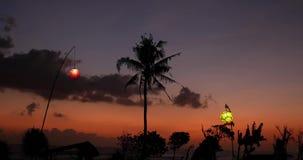 Sonnenuntergang-Kind 4k stock video footage