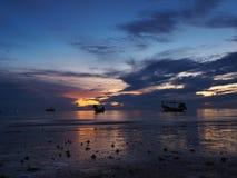 Sonnenuntergang am KOH Tao stockbild
