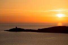 Sonnenuntergang in Korsika Lizenzfreies Stockfoto