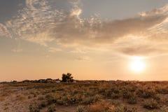 Sonnenuntergang in Krim stockfotos