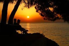 Sonnenuntergang in Kroatia Lizenzfreies Stockfoto