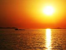 Sonnenuntergang in Kroatien Stockfoto