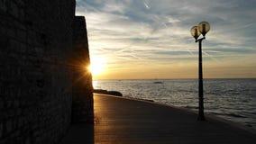 Sonnenuntergang in Kroatien Stockfotos