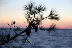 Sonnenuntergang in Kroatien, Adria Stockbilder