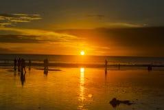 Sonnenuntergang kuta Strand Lizenzfreies Stockfoto