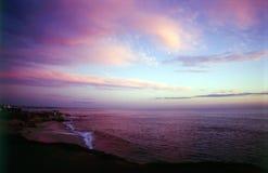 Sonnenuntergang in La Jolla Lizenzfreies Stockfoto