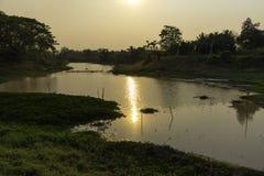 Sonnenuntergang-Lagune Lizenzfreie Stockbilder