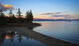 Sonnenuntergang Lake Tahoe Lizenzfreies Stockfoto