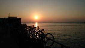 Sonnenuntergang in Lamma-Insel Stockfotografie