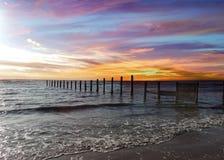 Sonnenuntergang in Lancashire, Großbritannien Lizenzfreies Stockfoto