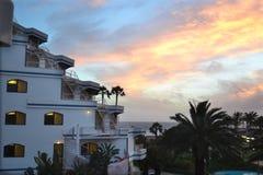 Sonnenuntergang landcape Stockfotografie