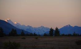 Sonnenuntergang-Landseite Stockbilder