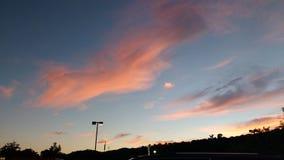 Sonnenuntergang in Lewisburg Wv stockbild