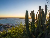 SONNENUNTERGANG-LIEBHABER LA PAZ MEXIKO stockfotografie