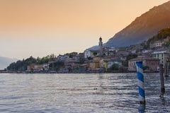 Sonnenuntergang an Limone-sul Garda Stockfoto