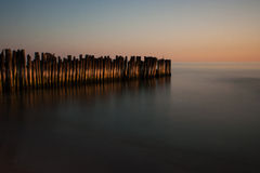 Sonnenuntergang in Litauen Lizenzfreies Stockbild