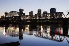 Sonnenuntergang in Little Rock, Arkansas Stockfotografie